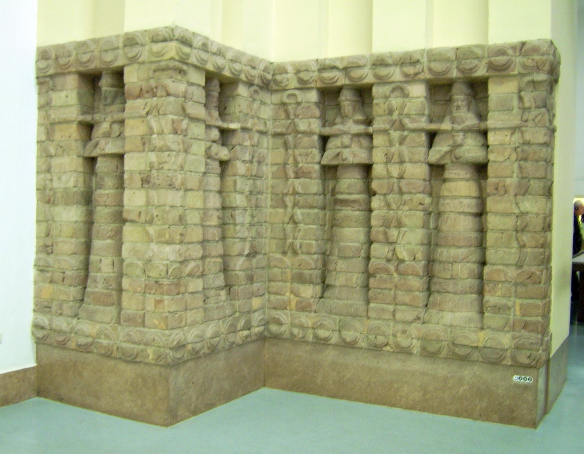 Parte frontal del templo de Innana en Uruk
