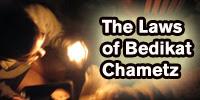 laws of bedikat chametz