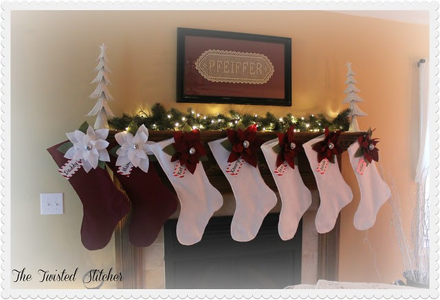 My Handmade Poinsettia Stockings