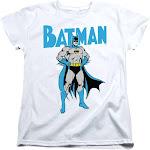 Trevco Sportswear BM2924-WT-2 Batman & Stance Short Sleeve Womens Tee White - Medium
