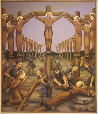 Holy Martyrs of Japan Church, painting of Martyrs.1