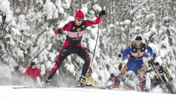 Tobias Quinn of Thunder Bay, competing in the freestyle 1.3km event at the 2016 Haywood NorAm World Junior/U23 Trials and Ontario Cup at the Lappe Nordic Centre is a biathlete and part of Ontario's Quest for Gold program.