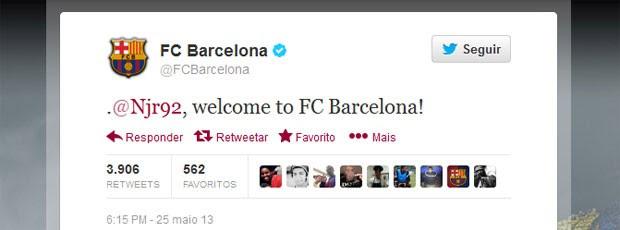 Barcelona Neymar twitter (Foto: Reprodução / Twitter)