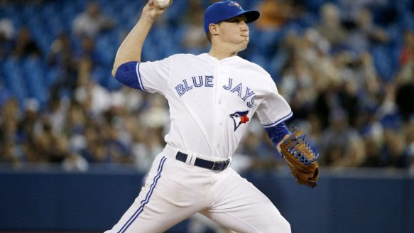 Prized pitching prospect Aaron Sanchez made his MLB debut for the Blue Jays Wednesday night against Boston. He threw two perfect innings in relief of starter R.A. Dickey.