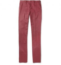 Paul Smith London Straight-leg Brushed Cotton-twill Trousers