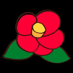 ツバキの花2 花植物イラスト Flode Illustration フロデイラスト