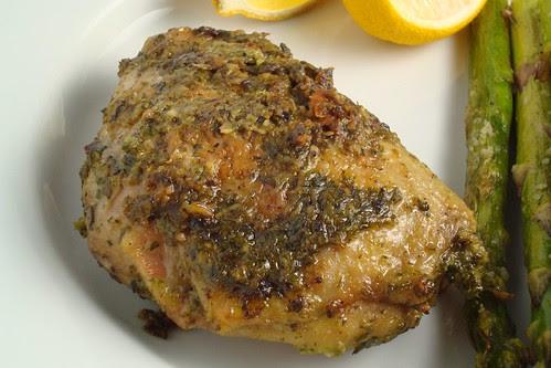 Spring Chicken with Green Marinade