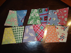 30's thimbles fo a doll quilt