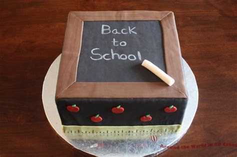 Back To School Cake   Around the World in 80 Cakes