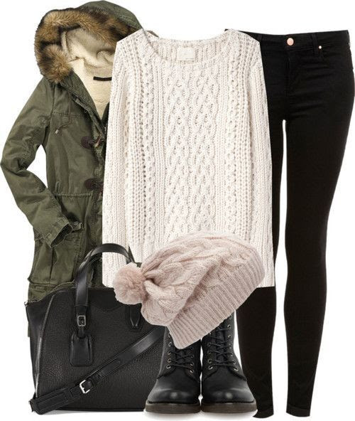 #comfy #outfit #pants #jacket #sweater #beanie #purse #fashion #womensfashion