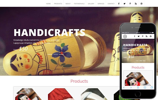 Handicraft a Industrial Category Flat Bootstrap Responsive Web Template by w3layouts
