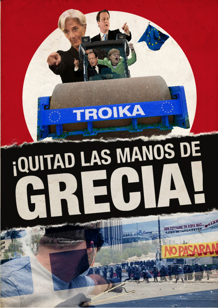 Poster for demonstration in Valencia
