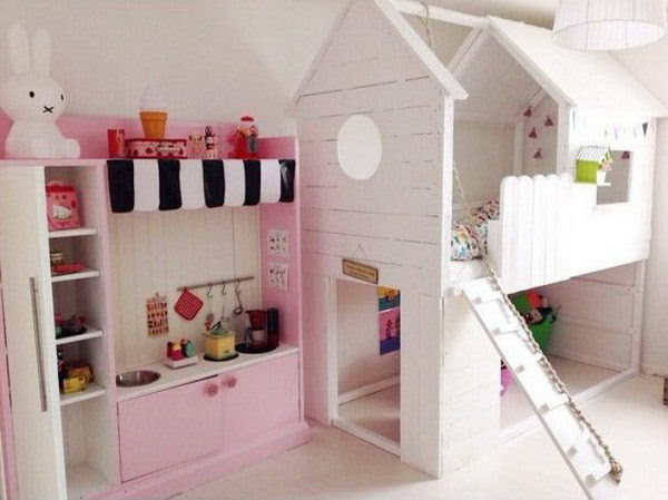 Turn an Ikea Kura Bed to a Beautiful Playhouse