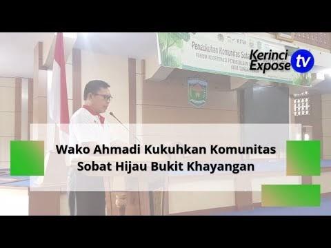 Wako Ahmadi Kukuhkan Komunitas Sobat Hijau Bukit Khayangan
