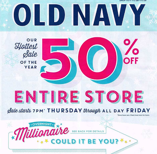 Ofertas de Black Friday 2013: Old Navy | Cuponeando™