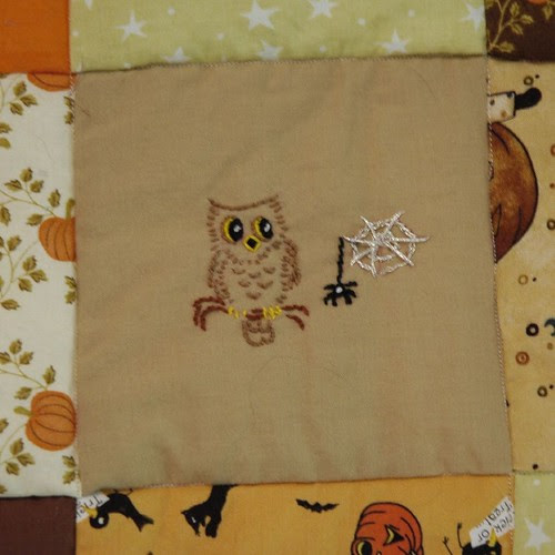Owl and Spider Embroidery