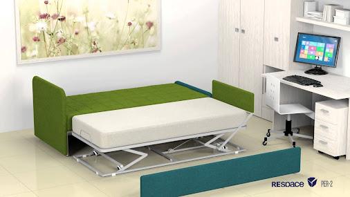 Un divano letto comodo e versatile che diventa un letto matrimoniale o 2 lett - Divano letto comodo per dormire ...