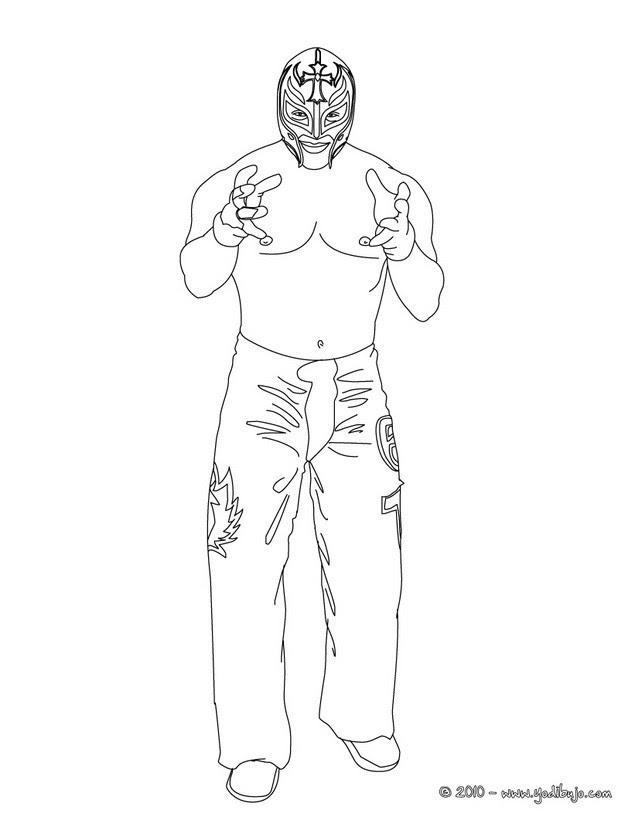 Dibujos Para Colorear El Luchador Rey Misterio Eshellokidscom