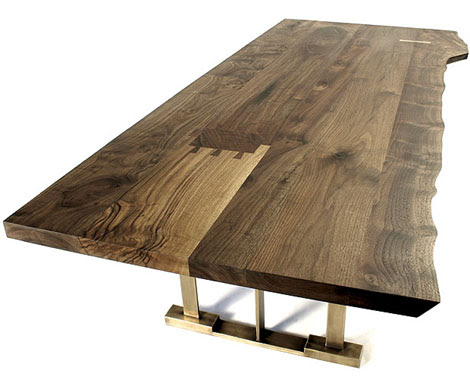 Modern Solid Wood Furniture From Hudson In Claro Walnut