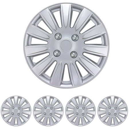 Bdk Hubcaps 15 Wheel Cover For Car And Suv Oem Replacement Easy Installation Total 4 Pieces