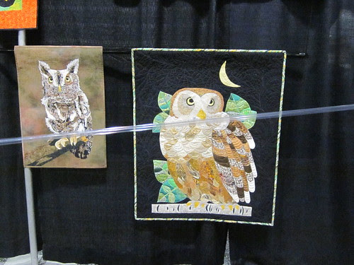 """""""Nite Owl by Sharon Hightower of Claremont, CA and """"Hoot Are You, Hoot, Hoot"""" by Sherry Glidden of Ladera Ranch"""