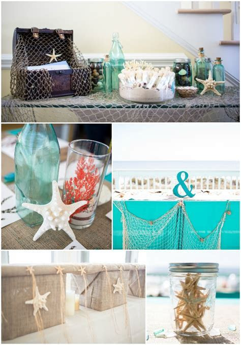 Coral And Teal Beach Wedding