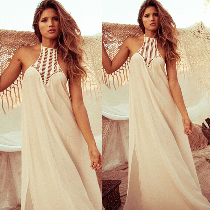 vintage hippie boho people long maxi evening party chiffon
