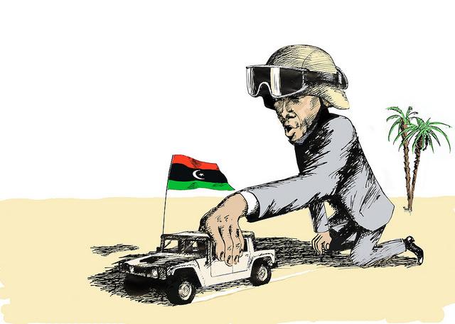 Obama Car Libya Flag SC Flicker.com CC 5914760451 0281079446 z Obamas Soulless Responses to Benghazi and Fort Hood