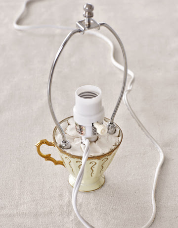 Diy Teapot Tabletop Lamp