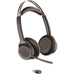 Poly - Plantronics Voyager Focus UC B825 Bluetooth Wireless On-Ear Headset - Noise-Canceling