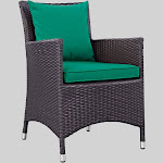 Convene Dining Outdoor Patio Armchair - Green - Modway