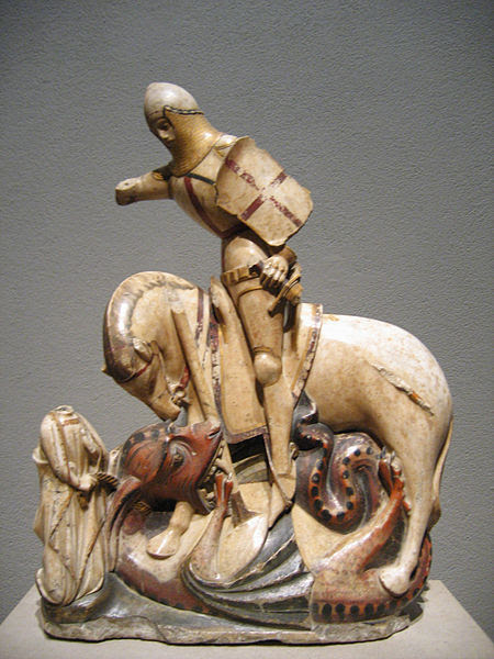 File:Saint George and the Dragon alabaster sculpture.jpg