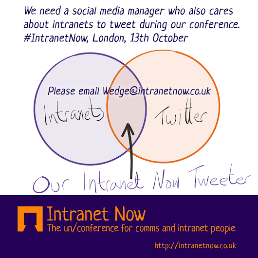 We need an official Tweeter for our conference | Intranet Now