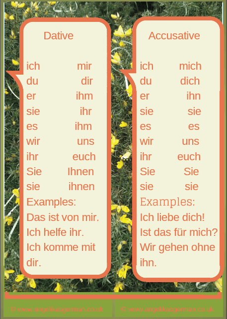 Help, I don't know when to use mir or mich! - Angelika's German Tuition & Translation