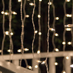Clear Curtain Lights, 150 Lights on White Wire