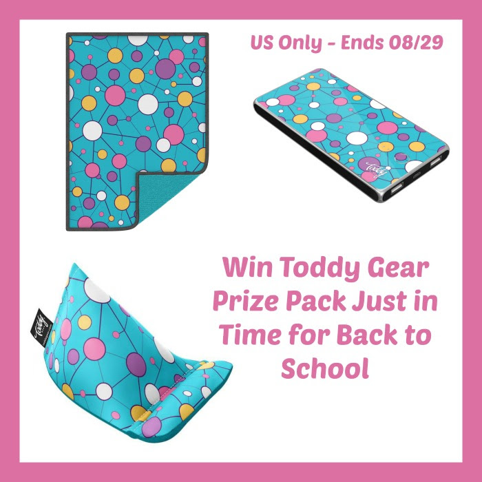 Enter the Toddy Gear Prize Pack Giveaway. Ends 8/29