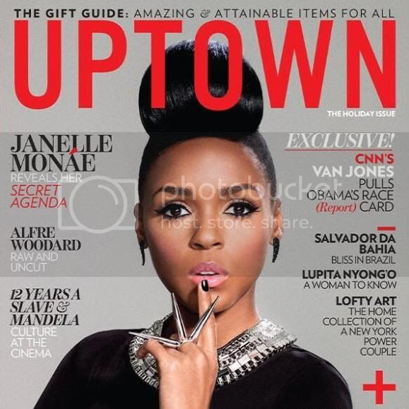 A flawless Janelle Monáe covers Uptown magazine's October/November 2013 issue...