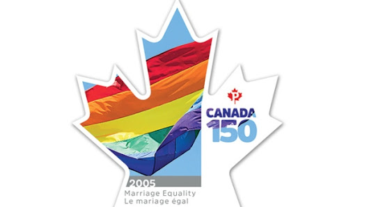 Canada Post unveils stamp celebrating same-sex marriage rights in country