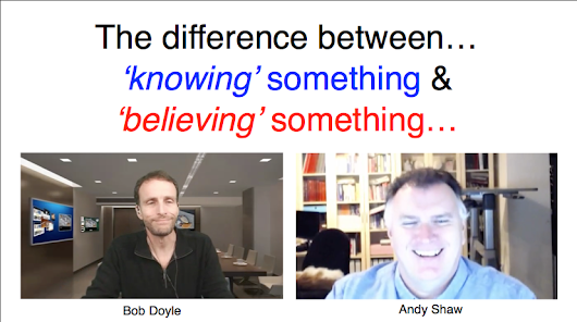 difference between knowing and believing
