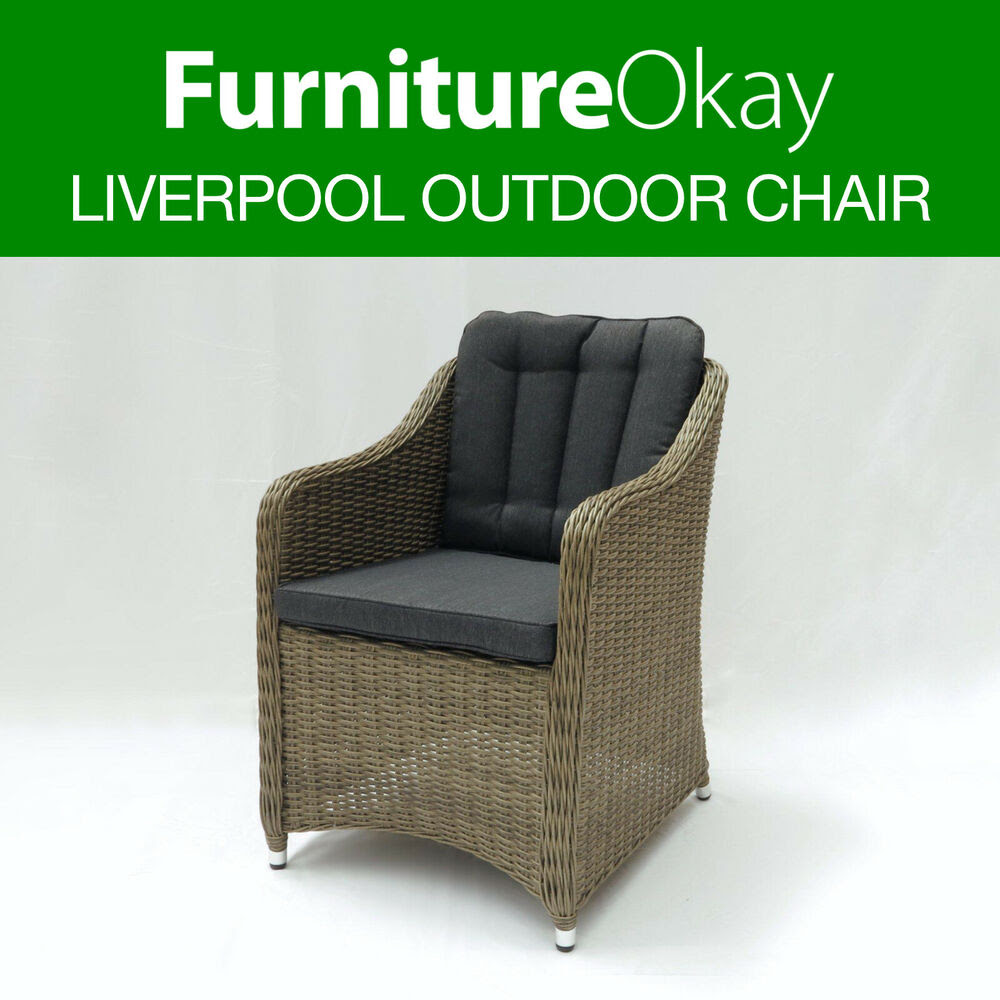 2x Liverpool Wicker Rattan Outdoor Dining Patio Lounge ...