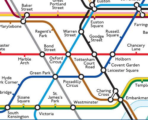 Max Roberts 45 degree Tube map