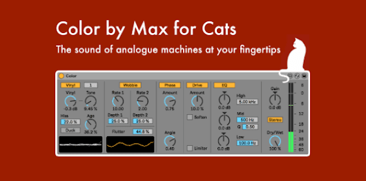 Max For Cats Intros Color, 'Sound Texture Device'
