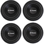 4) Q-POWER QPF15 15 Inch 2200W Deluxe Series DVC Car Audio Power Subwoofers by VM Express