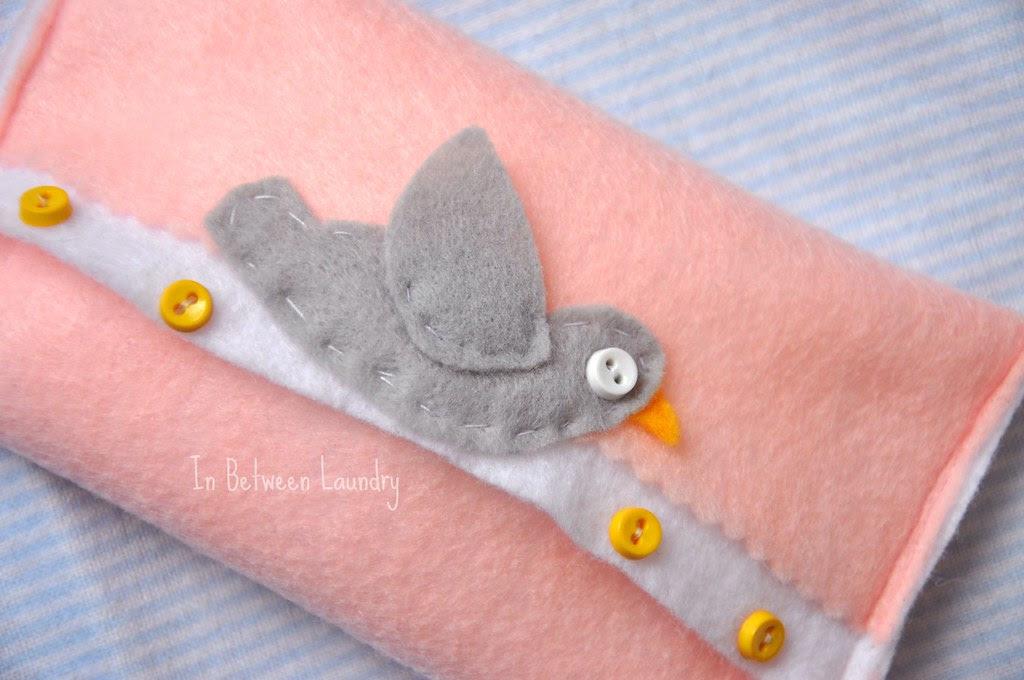 felt bird tissue holder