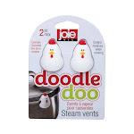 Joie Doodle Doo Chicken-Themed Pot Steam Lid Vent - Set of 2