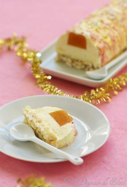 B che l g re aux litchis fruit de la passion et chocolat blanc sans gluten - Buche de noel facile et legere ...