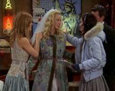 FRIENDS   Phoebe's wedding   Michael Kors bridesmaid dress