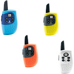 Cobra - MicroTALK 8-Mile, 22-Channel FRS/GMRS 2-Way Radios (4-Pack) - Yellow/White/Red/Blue