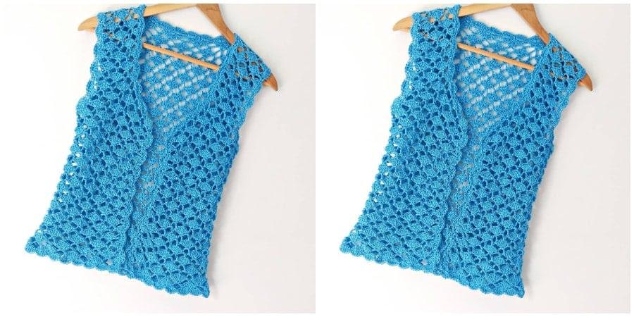Free women crochet for vest tutorial bible times
