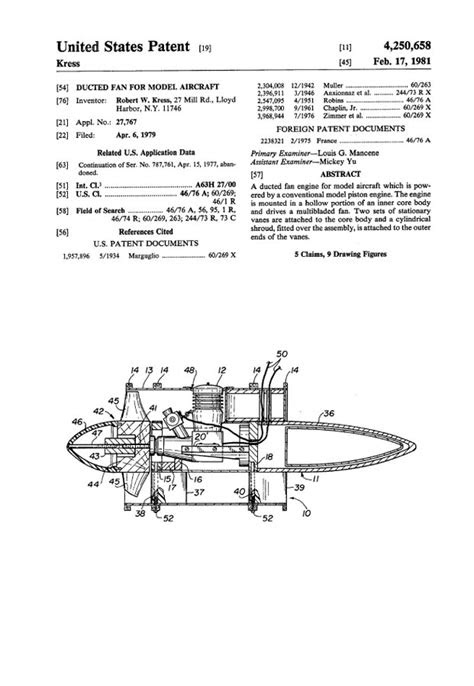 RCLibrary : Patent: Ducted Fan for Model Aircraft title